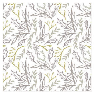 Hand Drawn Botanical Self-Launch Wrapping Paper