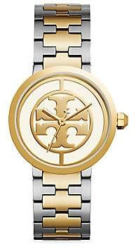 Tory Burch Women's Reva Goldtone & Stainless Steel Bracelet Watch