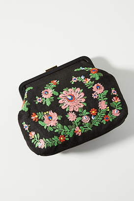 Clare Vivier Floral Embroidered Clutch
