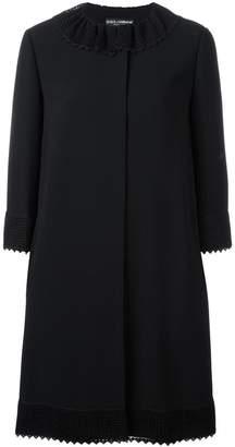 Dolce & Gabbana crochet collar coat