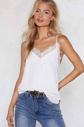 Nasty Gal Lace the Consequences Cami Top