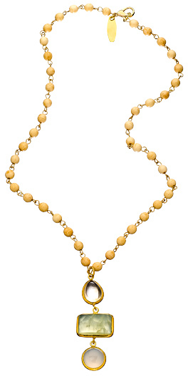 Wendy Mink White Coral Rosary Necklace