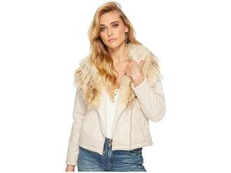 BB Dakota Claver Faux Fur Trim Jacket Women's Coat