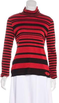 Sonia Rykiel Sonia by Striped Turtleneck Sweater