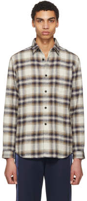 John Elliott Tan Plaid Shirt