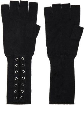 Autumn Cashmere Lace Up Fingerless Gloves $118 thestylecure.com