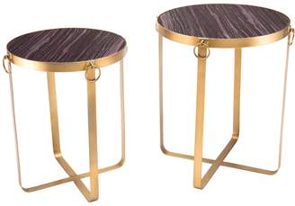 ZUO Decor Onix Round Tables (Set of 2)