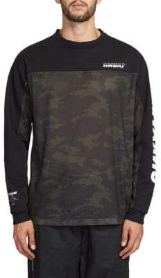 Taverniti So Ben Unravel Project Terry Camo Mesh Cotton Shirt