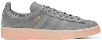 adidas Originals Grey & Pink Suede Campus Sneakers $90 thestylecure.com