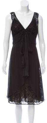 Carmen Marc Valvo Sleeveless Lace Dress