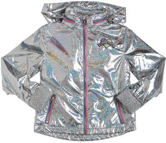 Little Marc Jacobs Iridescent Hooded Nylon Parka