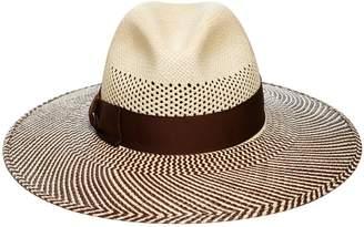 Borsalino Quilted Straw Hat