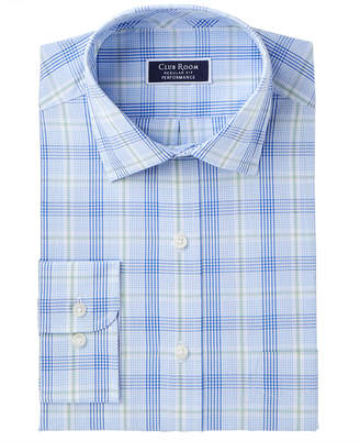 Club Room Club Romm Men's Classic/Regular Fit Stretch Fine Line Glenplaid Dress Shirt, Created for Macy's