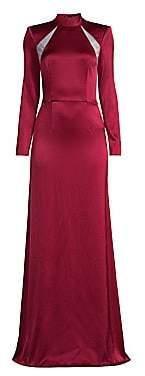 Alice + Olivia Women's Charita Mockneck Gown - Size 0
