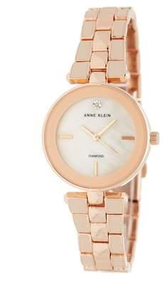 Anne Klein Women's Mother of Pearl Diamond Bracelet Watch, 28mm - 0.05 ctw