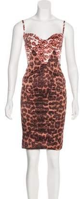 Just Cavalli Satin Animal Print Dress w/ Tags