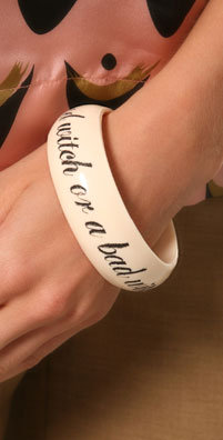 Jessica Kagan Cushman 'Are You a Good Witch or a Bad Witch?' Bangle