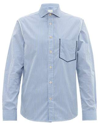 Paul Smith Striped Cotton Poplin Shirt - Mens - Blue White