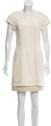 Rag & Bone Leather-Trimmed Mini Dress