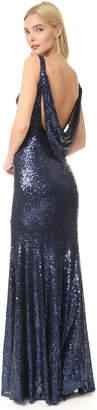 Theia Gemma Bateau Neck Gown $290 thestylecure.com