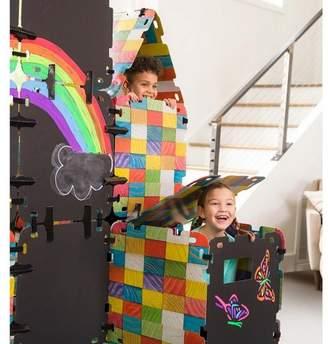 HearthSong Chalkboard Fantasy Fort Building Kit For Kids, With 16 Panels