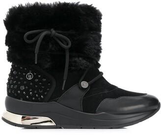Liu Jo logo ankle boots
