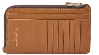 Aspinal of London Large Zipped Coin Purse In Smooth Tan