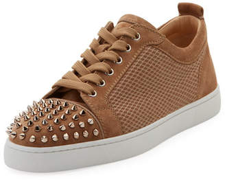 Christian Louboutin Men's Louis JR Low-Top Spiked Sneakers