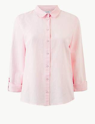 Marks and Spencer Button Detailed Long Sleeve Shirt
