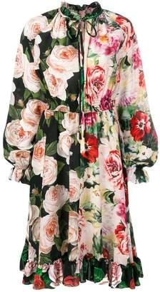 Dolce & Gabbana double-flower pattern dress