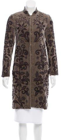 Chloé Chloé Embroidered Velvet Coat