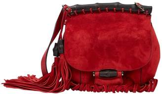 Gucci Fringe Red Suede Handbags