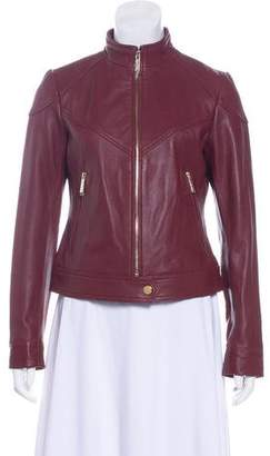 MICHAEL Michael Kors Leather Zip-Up Jacket w/ Tags