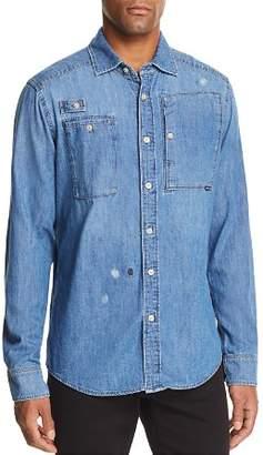 G Star Slim Fit Button-Down Utility Shirt