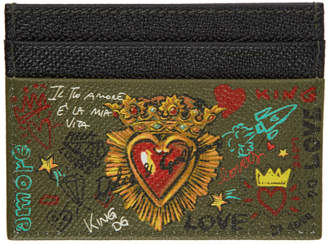 Dolce & Gabbana Black and Brown Sacre Coeur Card Holder