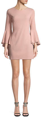 Jay Godfrey JAY X JAYGODFREY Bell-Sleeve Sheath Mini Cocktail Dress