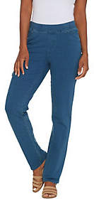 Denim & Co. Petite Comfy Knit Jeans withCargo Pocket