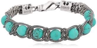 Emanuele Bicocchi Turquoise Silver Sterling Bracelet
