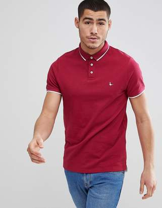 Jack Wills Edgware Tipped Polo in Red