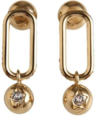 Burberry Crystal Charm Gold-plated Drop Earrings