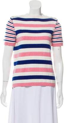 Chanel Striped Cashmere Top w/ Tags
