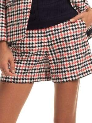 Trina Turk The Tourist Houndstooth-Print Shorts