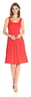 Jones New York Women's Sleeveless Pleated Sk Open Back Fit and Flare