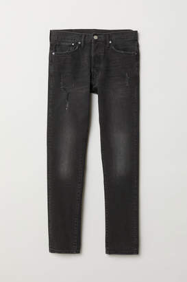 H&M Slim Straight Jeans - Black