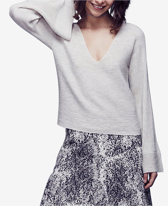 Free People Starman V-Neck Bell-Sleeve Top $108 thestylecure.com