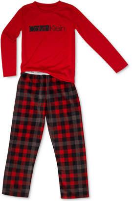 Calvin Klein Big Boys 2-Pc. Fleece Pajama Set