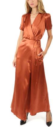 Saloni Lea Silk Wrap Dress