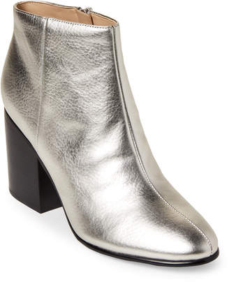 Marc Fisher Silver Quella Leather Ankle Booties