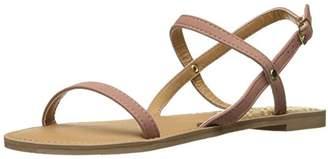 Qupid Women's Athena-1001ax Flat Sandal