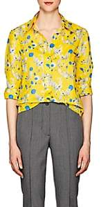 R 13 Women's Floral-Print Cotton Poplin Blouse - Yellow